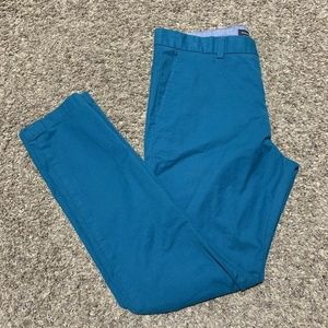 Banana Republic Greenish Blue Fulton Chino Size 34